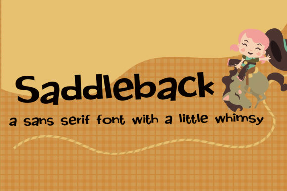 Print on Demand: Saddleback Sans Serif Font By Illustration Ink