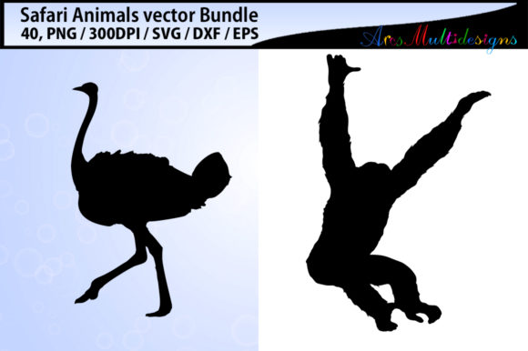 Download Free Safari Clipart Silhouette Bundle Graphic By Arcs Multidesigns SVG Cut Files
