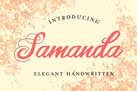 Print on Demand: Samanda Script & Handwritten Font By aksarangga