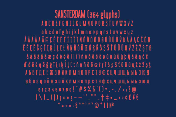 Print on Demand: Sansterdam Sans Serif Font By NREY - Image 4