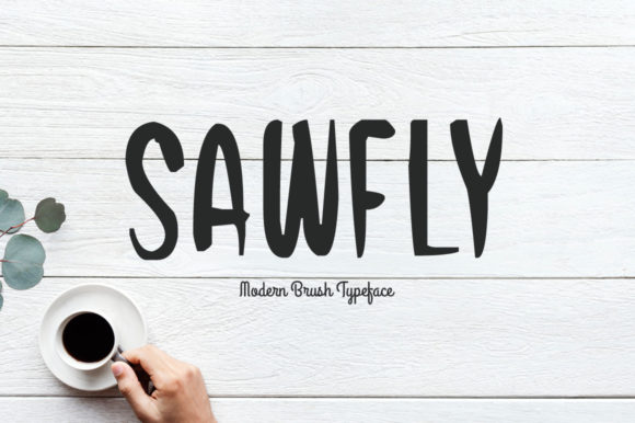 Print on Demand: Sawfly Display Font By Spanking Fonts