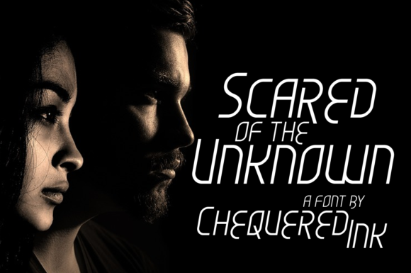 Print on Demand: Scared of the Unknown Display Font By Chequered Ink - Image 1