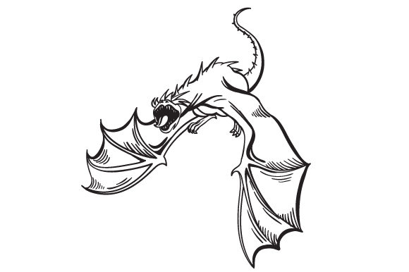 Download Free Scary Dragon Svg Cut File By Creative Fabrica Crafts Creative for Cricut Explore, Silhouette and other cutting machines.