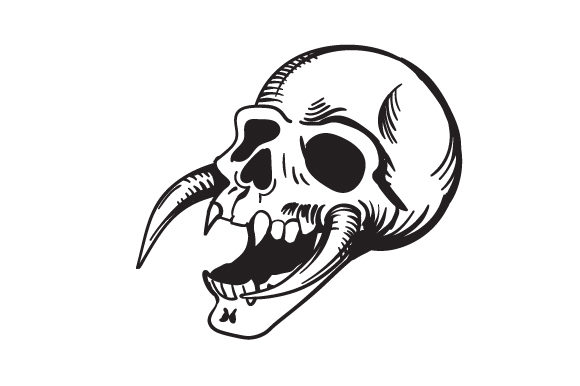 Download Free Scary Skull Svg Cut File By Creative Fabrica Crafts Creative for Cricut Explore, Silhouette and other cutting machines.