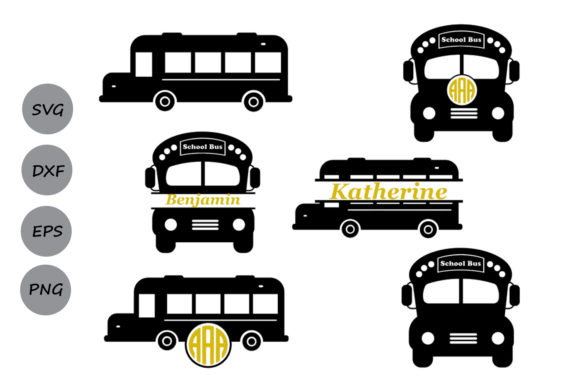 School Bus Monogram Svg Graphic By Cosmosfineart Creative Fabrica