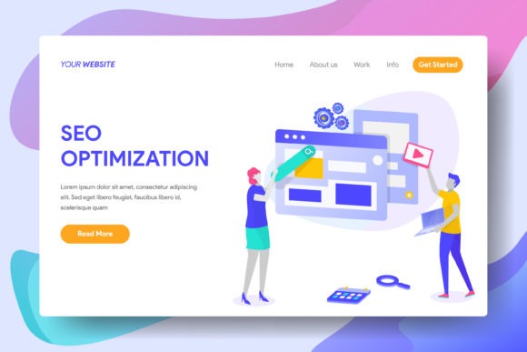 Sea Optimization Graphic Landing Page Templates By Twiri