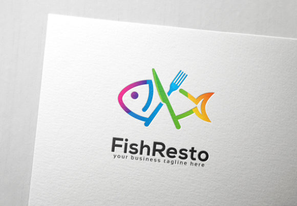 Download Free Seafood Fish Restaurant Logo Graphic By Slim Studio Creative for Cricut Explore, Silhouette and other cutting machines.