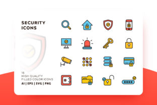 Download Free Security Filled Icon Pack Graphic By Goodware Std Creative Fabrica for Cricut Explore, Silhouette and other cutting machines.