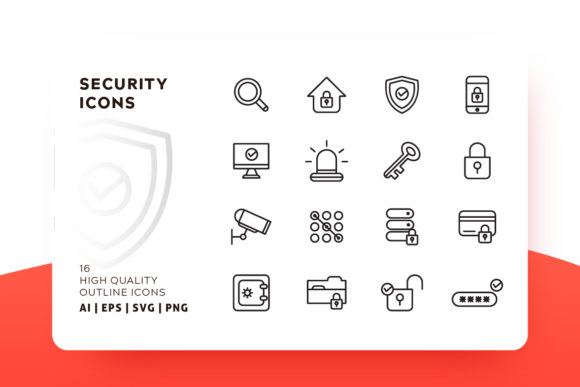 Security Outline Icon Pack Graphic By Goodware.Std