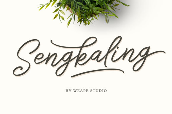 Print on Demand: Sengkaling Script Script & Handwritten Font By Weape Design