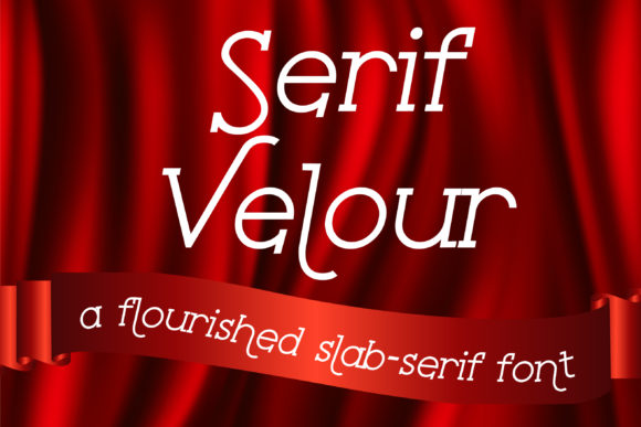 Print on Demand: Serif Velour Serif Font By Illustration Ink - Image 1