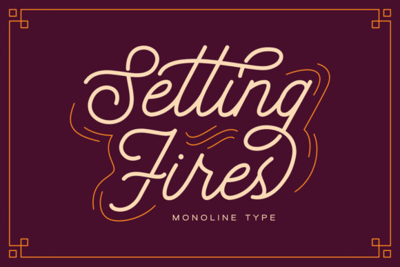 Print on Demand: Setting Fires Script & Handwritten Font By dharmas