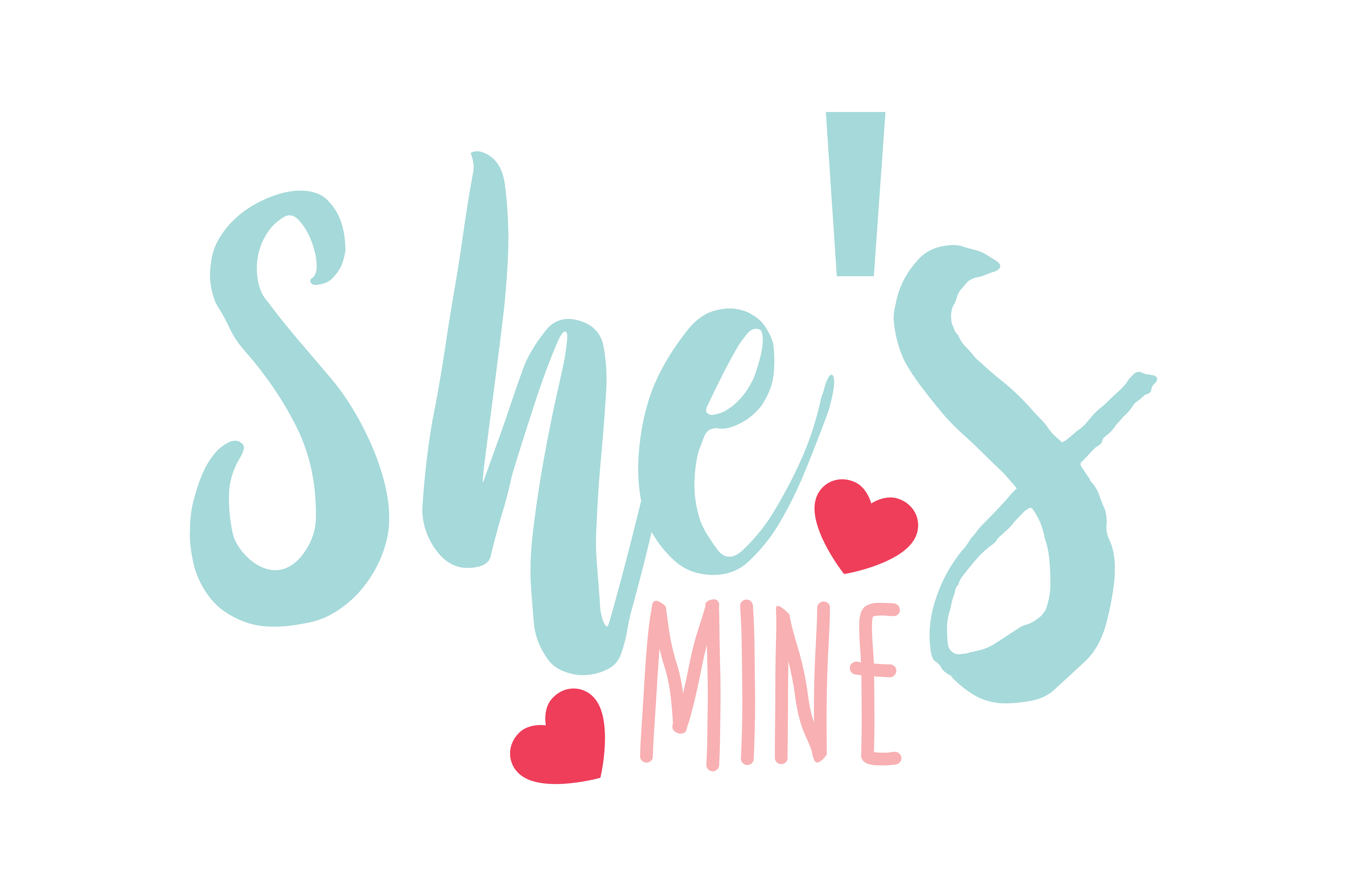 Download Free She S Mine Qoute Svg Cut Graphic By Thelucky Creative Fabrica for Cricut Explore, Silhouette and other cutting machines.
