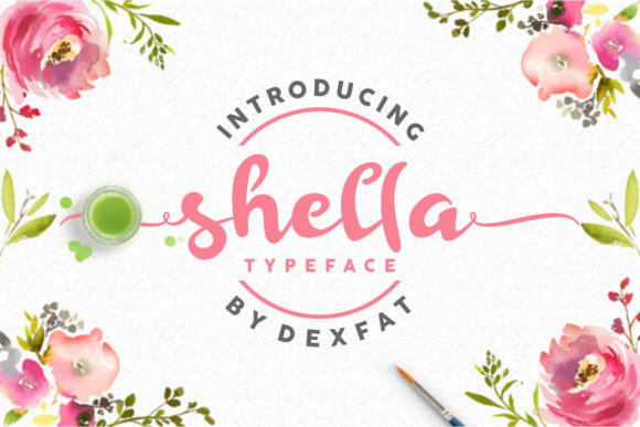Print on Demand: Shella Script Script & Handwritten Font By dexfat01