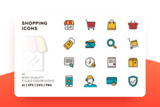 Shopping Filled Icon Pack Graphic By Goodware.Std