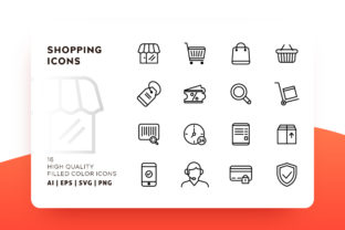 Shopping Outline Icon Pack Graphic By Goodware.Std