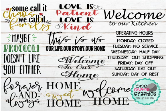 Sign Bundle  Graphic Crafts By OneStoneGraphics