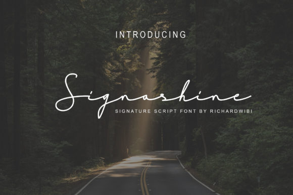 Print on Demand: Signashine Script & Handwritten Font By Hardtype