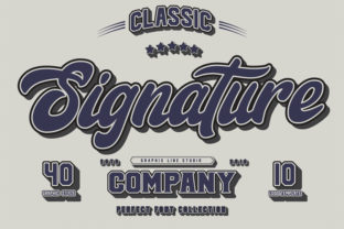 Print on Demand: Signature Trio Script & Handwritten Font By Graphix Line Studio