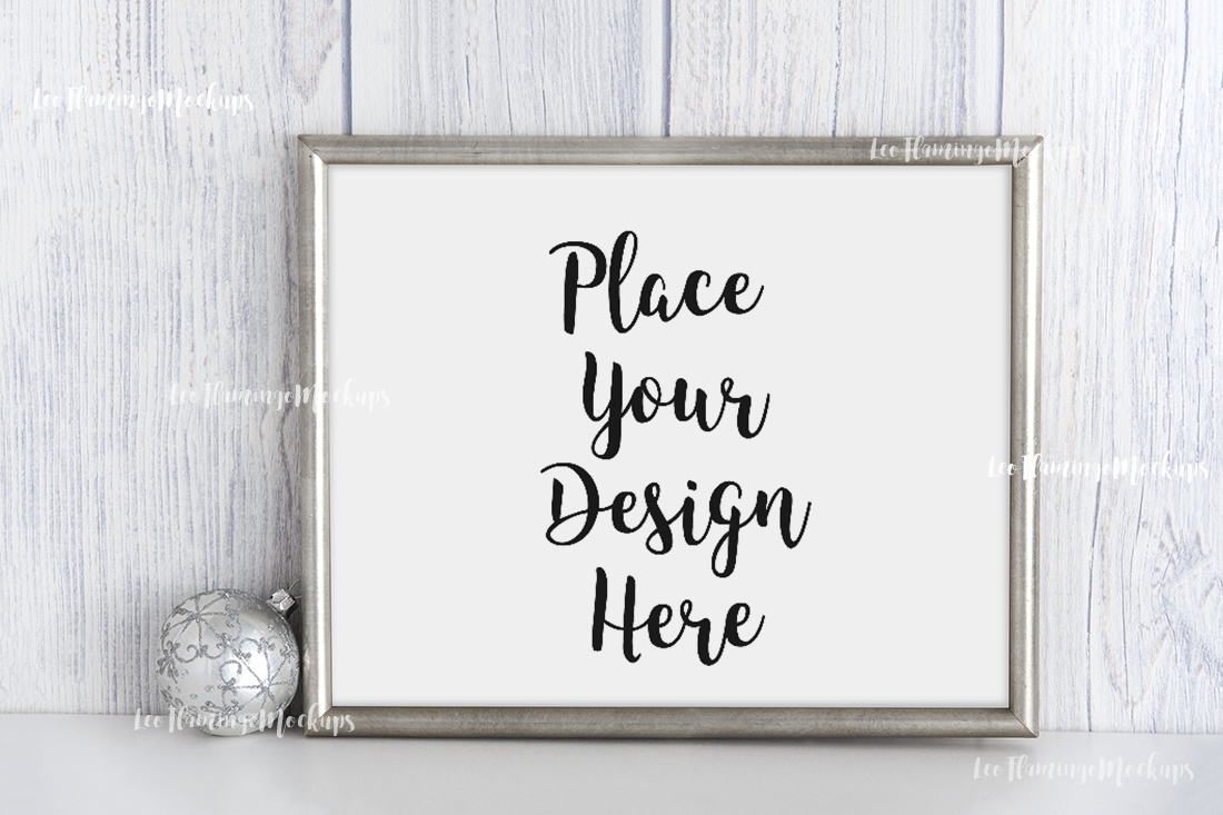 Download Free Silver Horizontal Frame Mock Up Graphic By Leo Flo Mockups for Cricut Explore, Silhouette and other cutting machines.