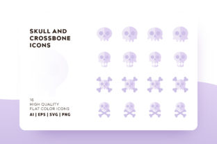 Skull and Cross Bone Icon Pack Graphic By Goodware.Std