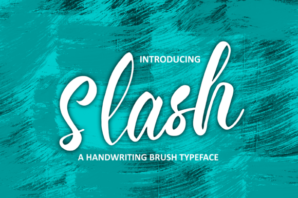 Print on Demand: Slash Script & Handwritten Font By NA CREATIVE