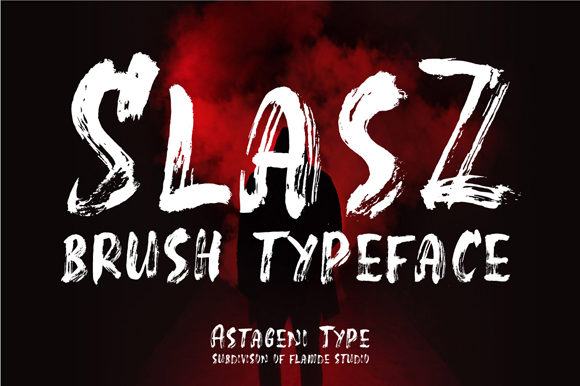 Print on Demand: Slasz Brush Display Font By Flamde Studio - Image 1