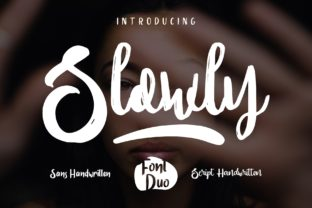 Slowly Duo Font By goodjavastudio