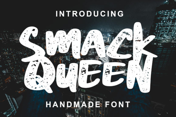 Print on Demand: Smack Queen Display Font By Lettersiro Co.