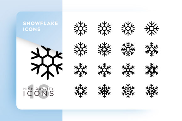 Snowflake Icon Pack Graphic By Goodware.Std Image 1