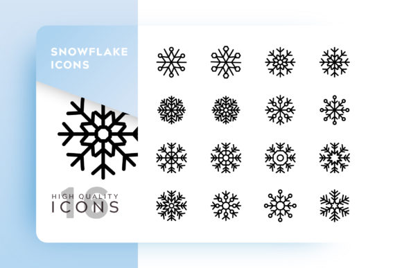 Print on Demand: Snowflake Icon Pack Graphic Icons By Goodware.Std