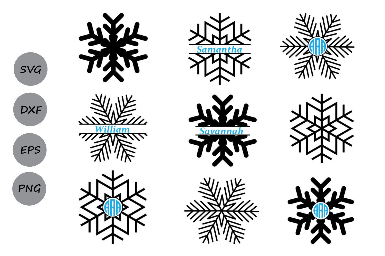 Download Free Snowflake Monogram Graphic By Cosmosfineart Creative Fabrica for Cricut Explore, Silhouette and other cutting machines.