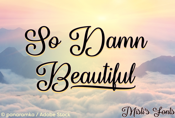 Print on Demand: So Damn Beautiful Script & Handwritten Font By Misti
