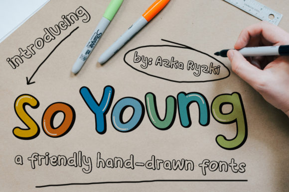 Print on Demand: So Young Display Font By azkaryzki