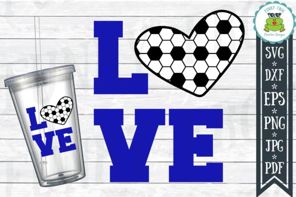 Soccer Love   Graphic Crafts By funkyfrogcreativedesigns - Image 1