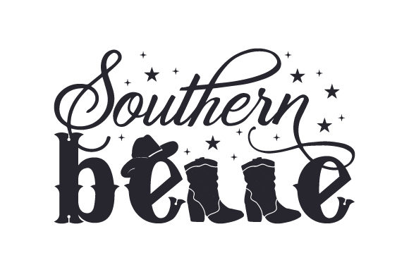 Southern Belle Cowgirl Craft Cut File By Creative Fabrica Crafts - Image 1