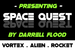 Space Quest Display Font By Dadiomouse