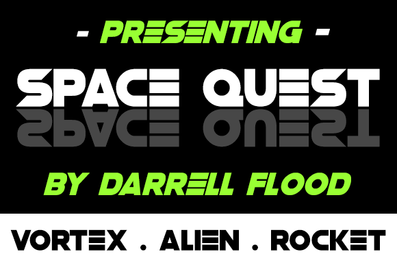 Print on Demand: Space Quest Display Font By Dadiomouse