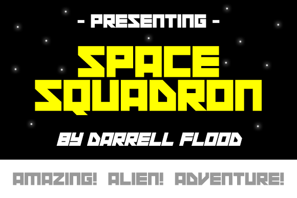 Print on Demand: Space Squadron Display Font By Dadiomouse