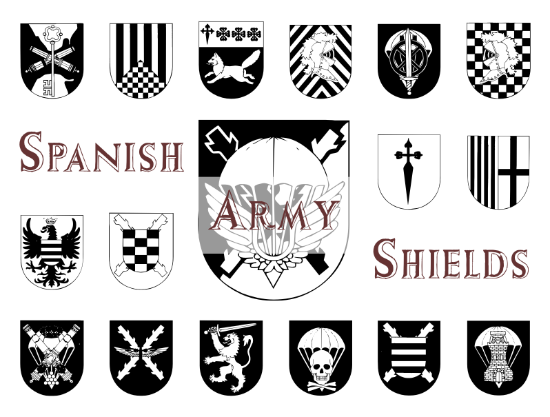 Download Free Spanish Army Shields Font By Intellecta Design Creative Fabrica SVG Cut Files
