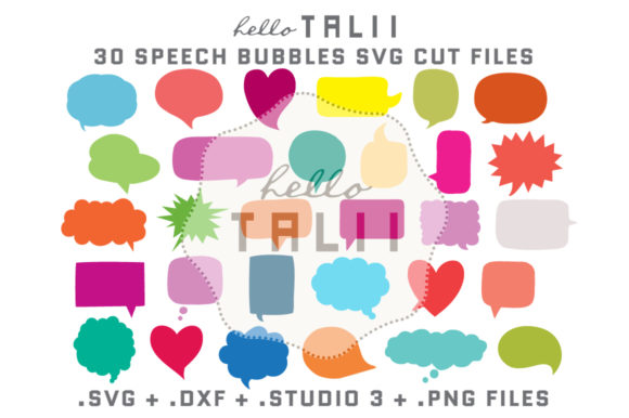 Speech Bubble Bundle Graphic Crafts By Hello Talii
