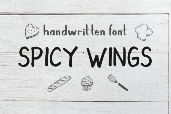 Print on Demand: Spicy Wings Sans Serif Font By Vermilione