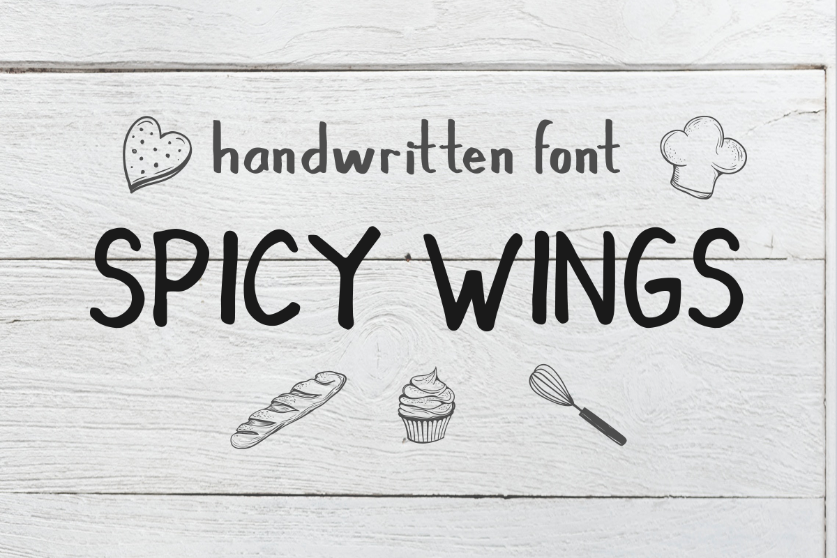Spicy Wings Font By Vermilione Creative Fabrica