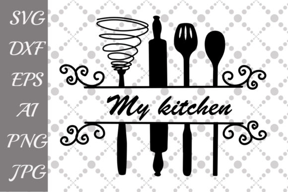 Download Free Split Kitchen Graphic By Prettydesignstudio Creative Fabrica for Cricut Explore, Silhouette and other cutting machines.