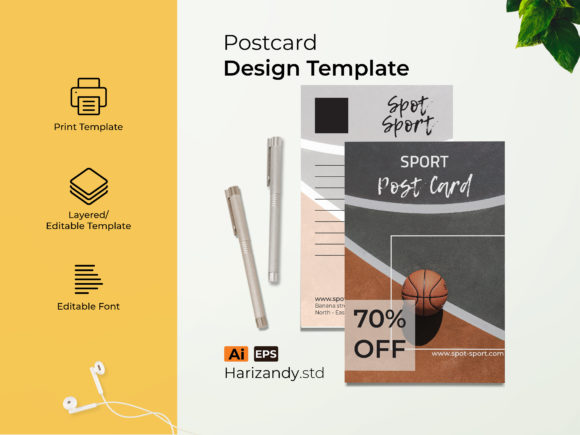 Sport Post Card Graphic Print Templates By harizandy