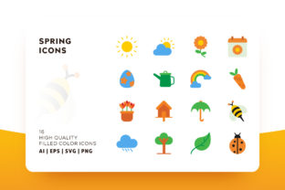 Spring Flat Color Icon Pack Graphic By Goodware.Std