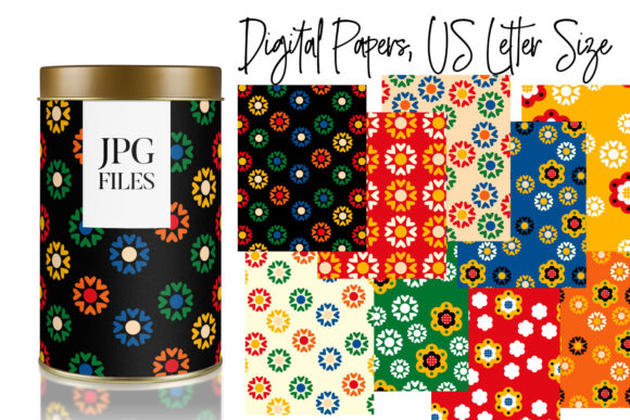 Print on Demand: Spring Flowers Patterns Graphic Backgrounds By DarraKadisha