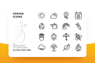 Spring Outline Icon Pack Graphic By Goodware.Std