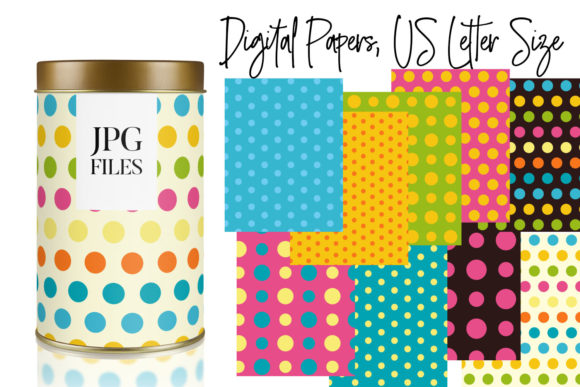 Print on Demand: Spring Polka Dot Backgrounds Graphic Illustrations By DarraKadisha