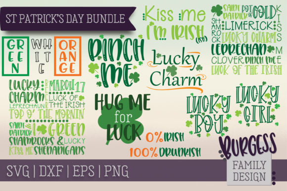 St Patrick's Day Bundle Graphic Crafts By burgessfamilydesign